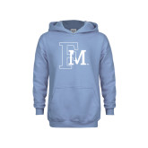 Youth Light Blue Fleece Hoodie-Interlocking FM