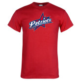 Red T Shirt-Patriots Star Distressed