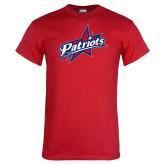 Red T Shirt-Patriots Star Distressed