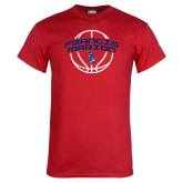 Red T Shirt-Basketball Arched