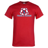 Red T Shirt-Soccer Geometric Ball