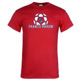 Red T Shirt-Soccer Geometric Ball