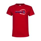 Youth Red T Shirt-Baseball on Right