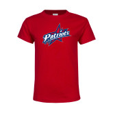 Youth Red T Shirt-Patriots Star
