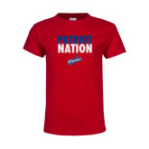 Youth Red T Shirt-Patriot Nation