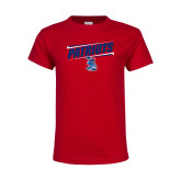 Youth Red T Shirt-Patriots Slant