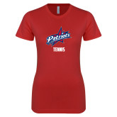 Next Level Ladies SoftStyle Junior Fitted Red Tee-Tennis