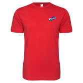 Next Level SoftStyle Red T Shirt-Patriots Star