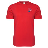 Next Level SoftStyle Red T Shirt-Interlocking FM