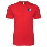 Next Level SoftStyle Red T Shirt-Interlocking FM