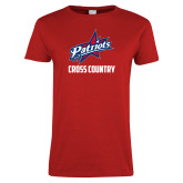 Ladies Red T Shirt-Cross Country