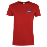 Ladies Red T Shirt-Patriots Star