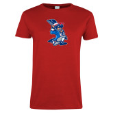 Ladies Red T Shirt-The Patriot