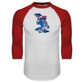 White/Red Raglan Baseball T-Shirt-The Patriot