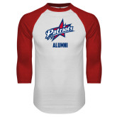 White/Red Raglan Baseball T-Shirt-Alumni