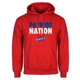 Red Fleece Hoodie-Patriot Nation