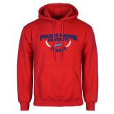 Red Fleece Hoodie-Tennis Branch