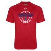 Under Armour Red Tech Tee-Basketball Arched