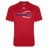 Under Armour Red Tech Tee-Baseball on Right