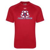 Under Armour Red Tech Tee-Soccer Geometric Ball