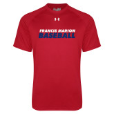 Under Armour Red Tech Tee-Baseball Stacked