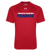 Under Armour Red Tech Tee-Tennis Stacked