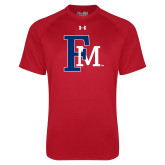 Under Armour Red Tech Tee-Interlocking FM