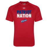 Under Armour Red Tech Tee-Patriot Nation