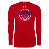 Under Armour Red Long Sleeve Tech Tee-Basketball Arched