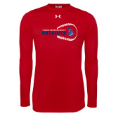 Under Armour Red Long Sleeve Tech Tee-Baseball on Right