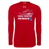Under Armour Red Long Sleeve Tech Tee-Cross Country Shoe