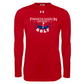Under Armour Red Long Sleeve Tech Tee-Golf With Stars