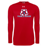 Under Armour Red Long Sleeve Tech Tee-Soccer Geometric Ball