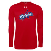 Under Armour Red Long Sleeve Tech Tee-Patriots Star