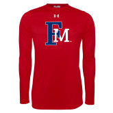 Under Armour Red Long Sleeve Tech Tee-Interlocking FM