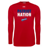 Under Armour Red Long Sleeve Tech Tee-Patriot Nation