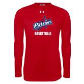 Under Armour Red Long Sleeve Tech Tee-Basketball