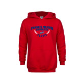 Youth Red Fleece Hoodie-Tennis Branch