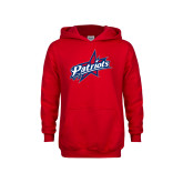 Youth Red Fleece Hoodie-Patriots Star