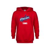 Youth Red Fleece Hoodie-Tennis