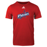 Adidas Red Logo T Shirt-Patriots Star