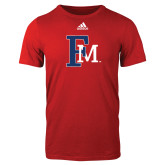 Adidas Red Logo T Shirt-Interlocking FM