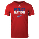 Adidas Red Logo T Shirt-Patriot Nation