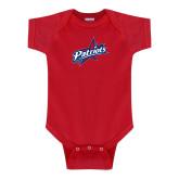 Red Infant Onesie-Patriots Star