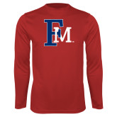 Performance Red Longsleeve Shirt-Interlocking FM