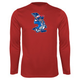 Performance Red Longsleeve Shirt-The Patriot