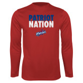 Performance Red Longsleeve Shirt-Patriot Nation