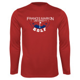 Performance Red Longsleeve Shirt-Golf With Stars
