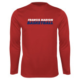 Performance Red Longsleeve Shirt-Basketball Stacked