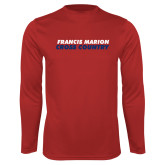 Performance Red Longsleeve Shirt-Cross Country Stacked